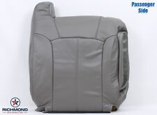 02 Cadillac Escalade EXT PASSENGER Lean Back PERFORATED Leather Seat Cover Gray