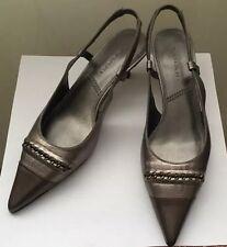 TAHARI Ta- Nancy Women's Sandals Ancient Zinc Leather US 6 ( M )