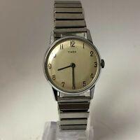 Vintage 1963 Timex Mercury Wind Up Stainless Steel Analog Wristwatch #1063 RUNS