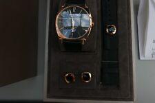 Mint condition Special Edition 18k Chaumet Dandy watch + matching 18k cufflinks