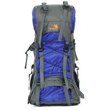 70L Waterproof Backpacks Blue Knapsack Camping Travelling Hiking Bag Rucksack