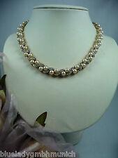 Perlenkette ❤ KETTE Halskette 42cm ❤ Süßwasser-Zuchtperlen STRASS COLLIER Perlen