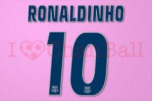 Ronaldinho #10 2004-2006 Barcelona Awaykit Nameset Printing