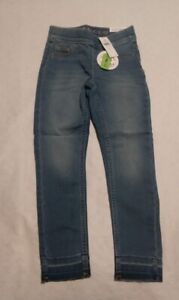 NWT Justice Girls Denim Leggings Jeggings Pull on Jeans Medium Wash 12 Slim