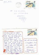 GAMBIA 1986 COVER & POST CARD EX BANJUL