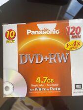 10 DVD+RW 4,7 GB Rohlinge 120 Min Aufnahmezeit max. 4x Speed