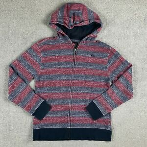 Quicksilver Youth Boys Long Sleeve Full Zip Hoodie Medium Striped M Cotton Blend