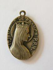 Médaille Pendentif Sainte Jehanne de France ND des Divins Plaisirs Argent Plaqué
