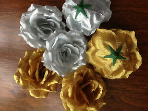 3 Large Artificial Simulation Silk Camellia Rose Flower Head 10 cm