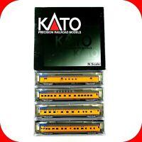 N Scale UP UNION PACIFIC Passenger 4-Car Set B  RPO, Dome, Sleeper KATO 106-1055