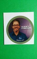 "SCIENCE COMEDIAN BRIAN MALOW WEATHER CHANNEL TV SM 1.5"" GET GLUE GETGLUE STICKER"
