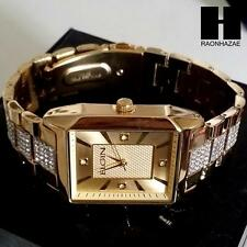 NEW MEN'S LUXURY ICED OUT ELGIN LAB DIAMOND PAVE WRIST BRACELET WATCH  FG9754G