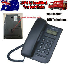Wall Mount Corded Phone Telephone Home Office Desktop Phone W/ Caller ID
