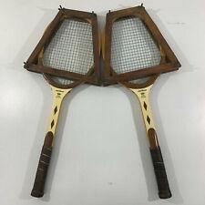2- Vintage 60s Wilson Jack Kramer Pro Staff Wood Tennis Racquet + Racquet Press