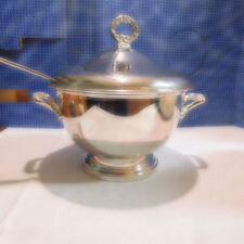 WONDERFUL SILVER PLATED SOUP TUREEN WITH   INSERT AND LADLE 4 PIECES