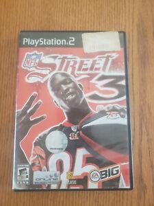 NFL Street 3 (Sony PlayStation 2, 2006) PS2 -  W/ Case + Manual
