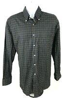 Peter Millar Men's Regular Fit L/S Button Down Brown Check Casual Shirt Sz L