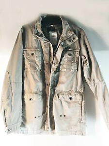 COMMANDER Long-Jacket (Garment Dyed) Farbe Sahara, Gr. 48