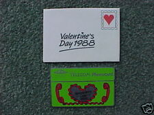 BT 40u Pcard BTC 005 Valentine's Day 1988 - MINT UNUSED