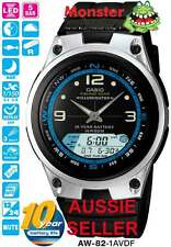 AUSSIE SELLER CASIO WATCH FISHING TIME AW82 AW-82-1AV MOON AGE 12 MONTH WRNTY
