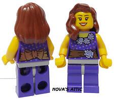 Lego Town Città RAGAZZA PRINCIPESSA da donna in Viola FIGURE MINI NUOVO