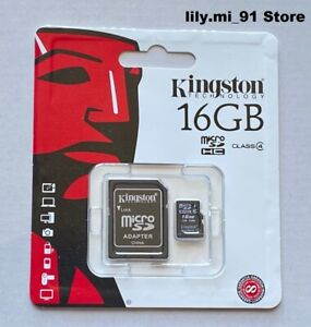 New Kingston 16GB Micro SD HC MicroSDHC Memory Card 16 GB SDC4 with Adapter
