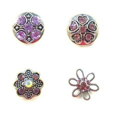 Noosa Style Chunks Mini Snap Button Charms Ginger Snaps Charm Lilac Stones 12mm