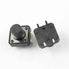 100Pcs Momentary Tactile Tact Push Button Switch 4 Pin DIP 12x12x10mm
