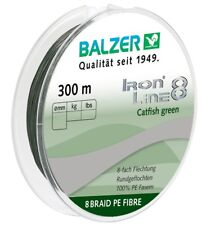 Balzer IRON LINE CATFISH 8 BRAID PE FIBRE grün 0,50mm - 300m Wallerschnur