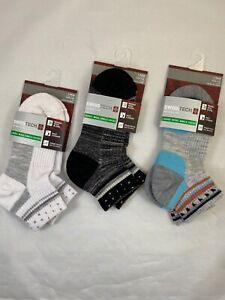 Swiss Tech Ladies Merino Wool Ankle Socks Shoe Size 4-10 Lot of 3 New