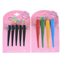 "4Pcs Plastic Single Prong DIY Hairstyle Alligator Hair Clip 3.1"" Long new"