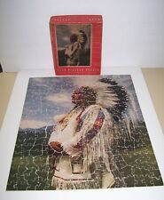 Vintage 1943 Leo Hart Company Picture Puzzle Blackfoot Indian 300-500 Pieces