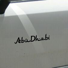 Schriftzug Abu Dhabi 20cm schwarz Auto Tür Heck Aufkleber Tattoo Deko Folie