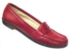 SAS Loafers Womens Size 7.5 N Red Leather Shoes Tripad Comfort