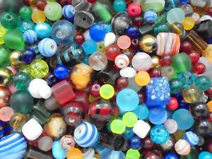Glasperlen Mix LACKIERTE GLASPERLEN KUGELN 70 Stück 8mm milchig blau  teal