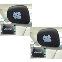 2pc NCAA North Carolina Tar Heels Automotive Gear Car Truck Headrest Covers Set