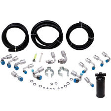 134a Air Conditioning Hose Kit O-Ring Fittings Ac Hoses Kit W/ Black Drier
