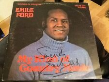 EMILE FORD . RARE . SIGNED VINYL L.P.  SOUNDS OF COUNTRY . Original autograph