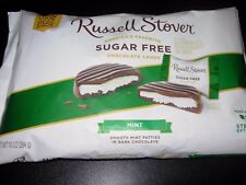 Russell Stover Sugar Free Mint Patties Dark Chocolate Covered Candy 10 OZ Bag!!