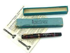 Svanströms Sweden by Conway Stewart c1928 Burgundy Marbled Brilliant Pen No. 1