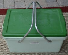 Vintage Coleman Cooler Mint Green Retro 70's Camping Picnic Fishing Tailgating