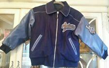 AVIREX Varsity Bomber Jacket Boys Wool Faux Leather Coat - Size  8/10