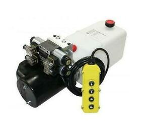 Flowfit 24V DC Double Acting Double Solenoid Hydraulic Power pack 8L Tank ZZ0042