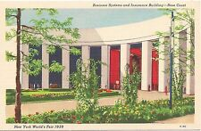 Business Systems and Insurance Building at 1939 New York World's Fair Postcard