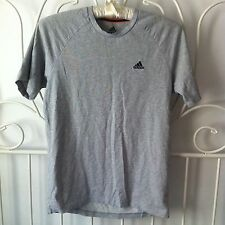 grey adidas essentials performace climate control tshirt size s
