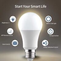 US E27 WiFi Smart Light Bulb LED Dimmable App Control for Alexa, Google Home