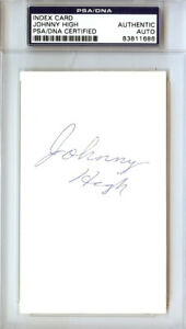 Johnny High Autographed Signed 3x5 Index Card Phoenix Suns PSA/DNA #83811686