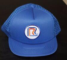 vintage Roadway mesh trucker hat baseball cap blue made in Taiwan