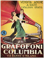 Grafofoni Columbia Gramophone Music Player Ad Poste 13 x 17 Giclee print