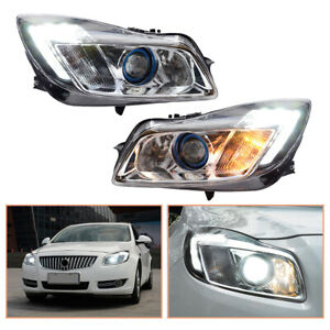 For Buick Regal Headlamps 2011-2013 HID Projector LED DRL Replace OEM Headlight